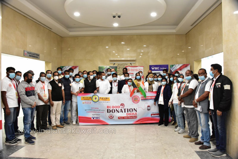 Saradhi Kuwait organized  blood donation camp jointly with BDK as part of Republic Day celebrations