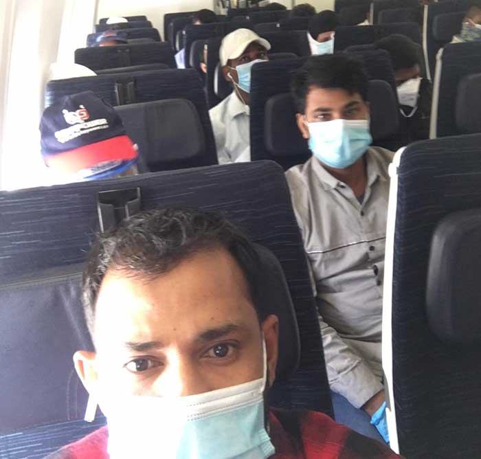 Charter flight with 322 Indians from Kuwait reaches Delhi