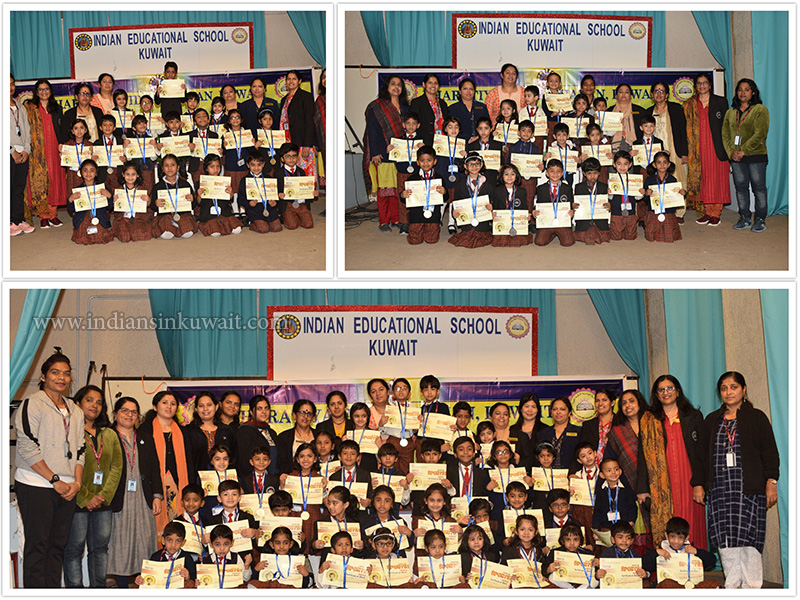 Indian Education School Organized Sports Meet of the KG Wing 24th and 25th November