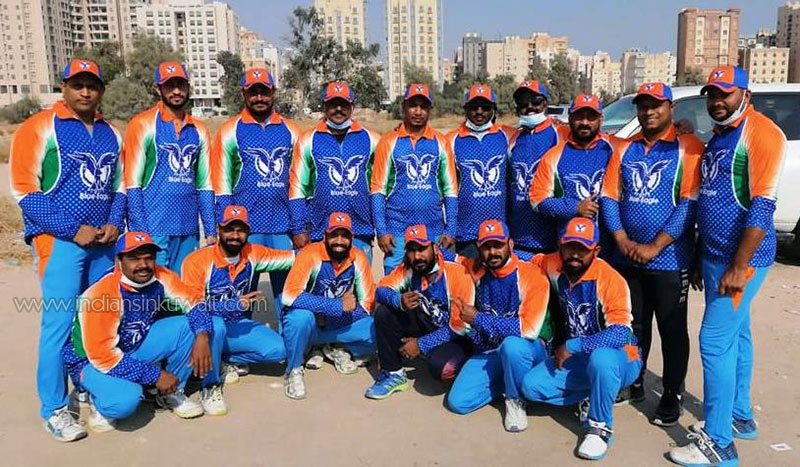 Blue Eagles Cricket Team participated in the Abu Halifa Premier League (AHPL)