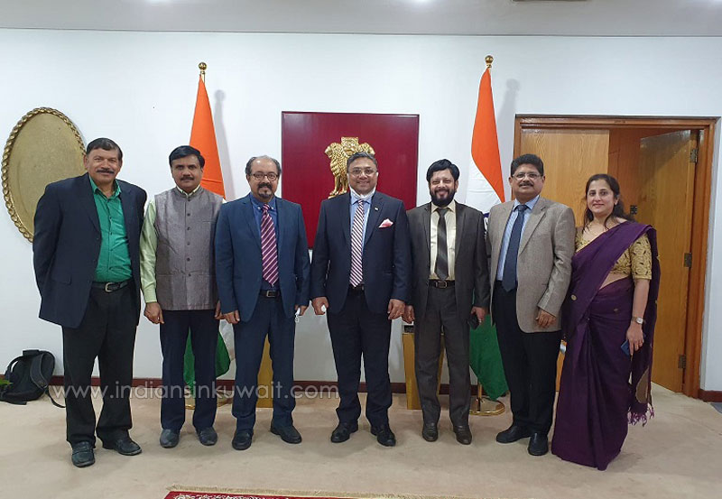 KANA, Kuwait office-bearers  call on Indian Ambassador