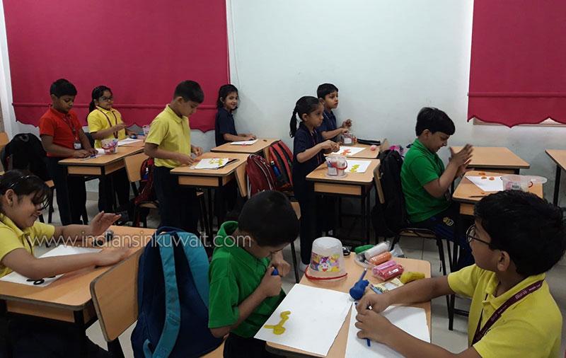 Clay Modelling in Arabic at Bhavan's SIS