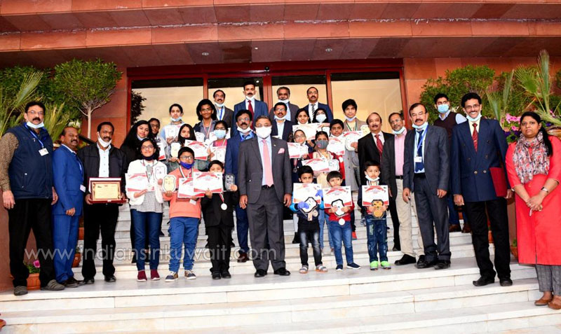 "Kala(Art) Kuwait ""NIRAM 2020"" Winners Prizes  Presented by Indian Ambassador"