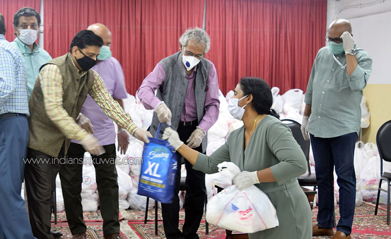 Indian ambassador distributes ICSG food kits in Jleeb