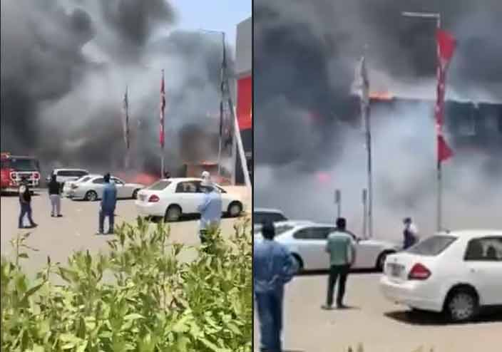 Fire fighters controlled fire broke out near Shuwaikh industrial area