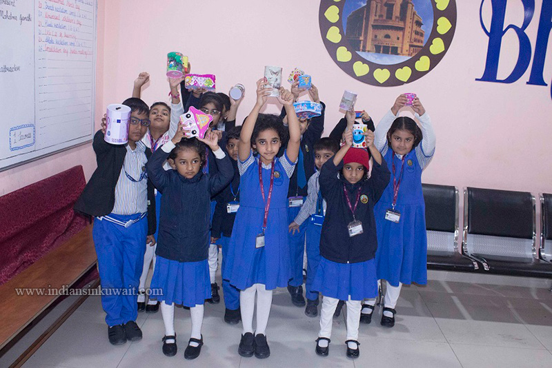 """Bhavans SIS Primary Wing says, """"BIG OR SMALL, BAG IT ALL!!"""""""