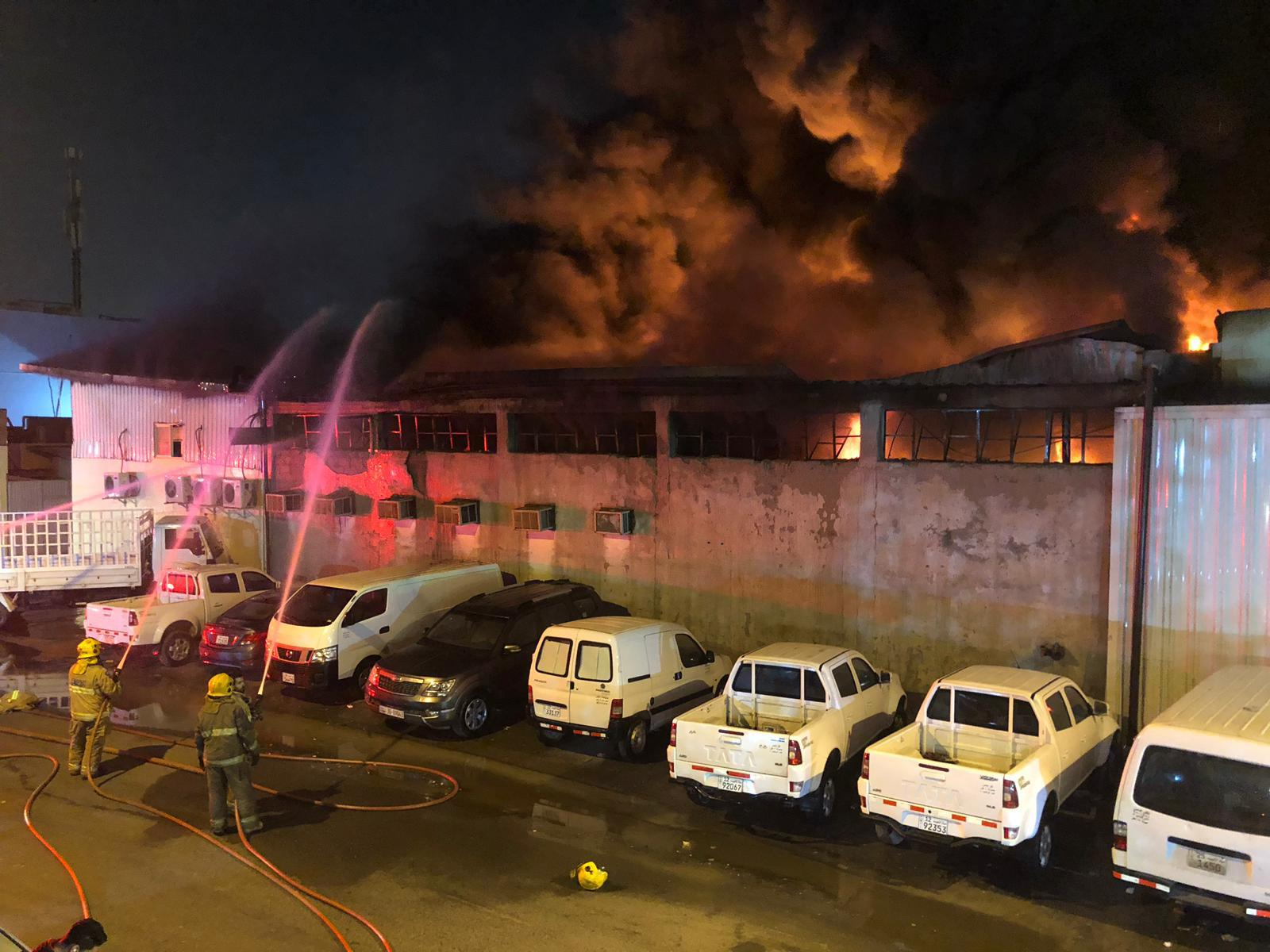 Huge material loss reported at Al-Rai fire