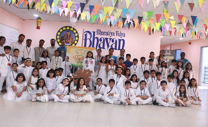 Bhavans Smart Indian School celebrates Gandhi Jayanthi