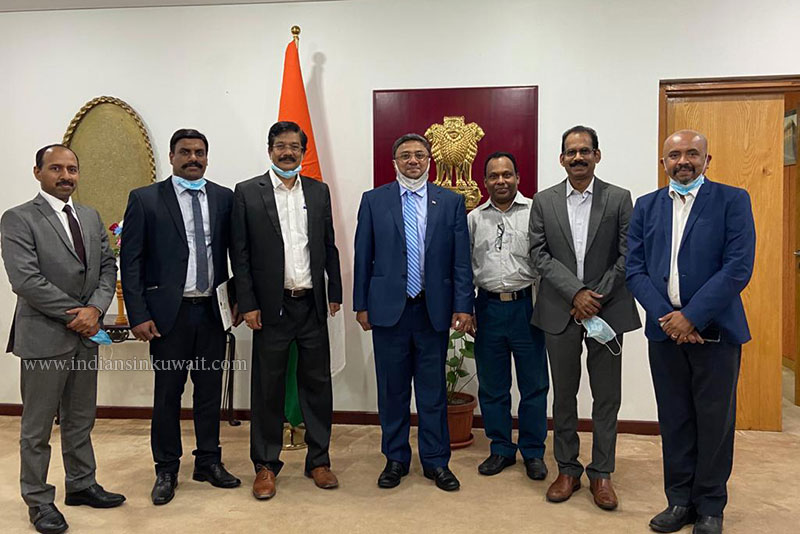 Saradhi Kuwait Officials met the Honorable Indian Ambassador to Kuwait, Mr. Sibi George