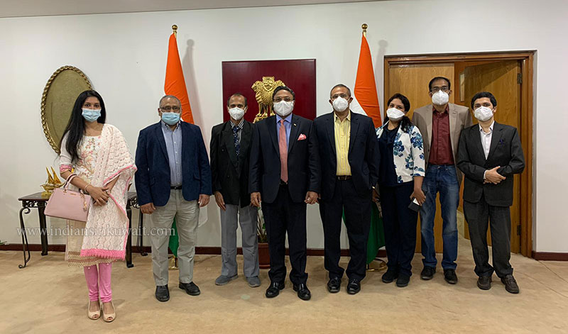 IDAK Council meets H E Sibi George, Ambassador of India to the State of Kuwait.