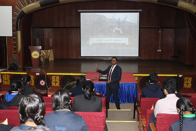 Bhavans Smart Indian School Conducted a Two-Hour Motivational Talk for the Students of Grade 10