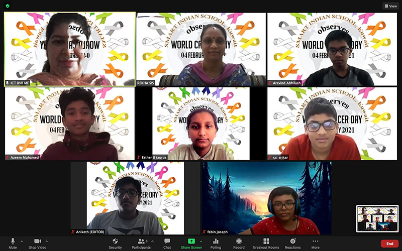 Bhavans SIS Campaigned for World Cancer Day 2021