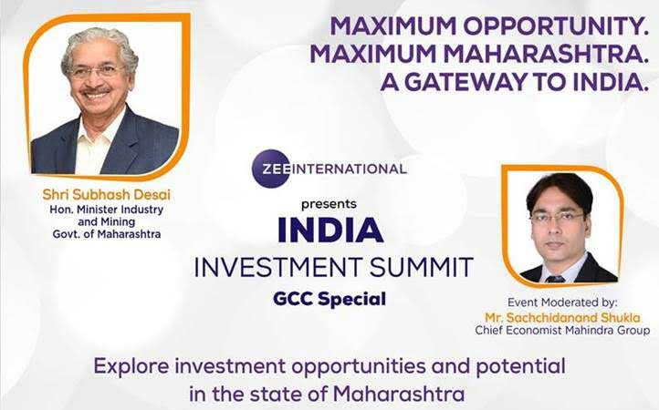 Attend GCC Special India Investment Summit today to explore the potential of Maharashtra