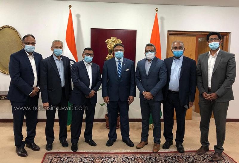 Kuwait Engineers Forum Officials meet HE the Indian Ambassador Sri Sibi George