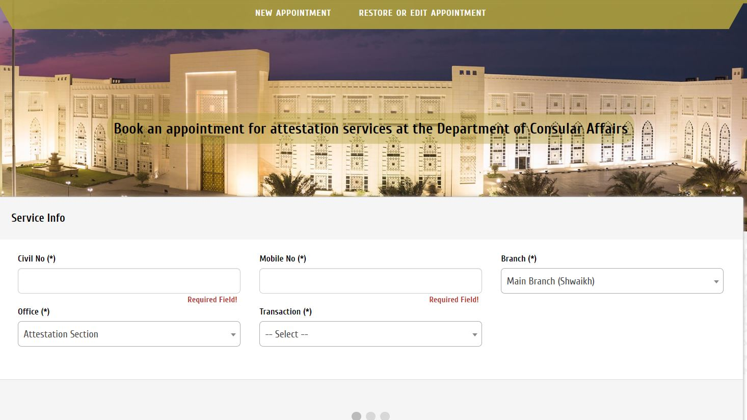 Ministry of Foreign Affairs opened online booking for attestation services
