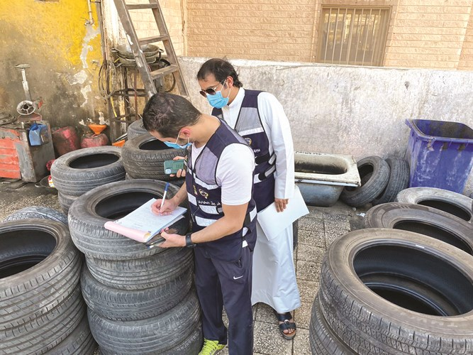 405 used tires confiscated