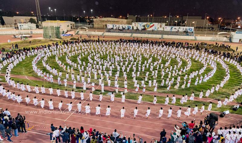 SMCA Kuwait creates history staging Mega  Margamkali with 876 dancers