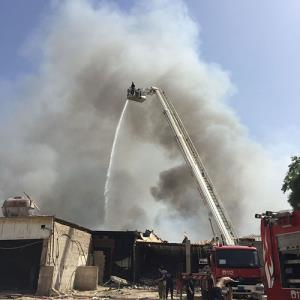 Fire in 7 warehouses brought under control